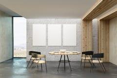 有空的广告牌的现代客厅 库存例证