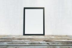 有空的框架的木桌面 免版税库存图片