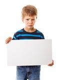 有空的空白的哀伤的男孩 库存照片