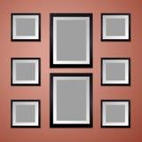 有空的画框的五颜六色的墙壁 库存照片