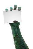 有空间的可怕蛇神手文本的 免版税库存图片