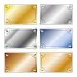 有空间的金属片剂文本的 库存照片