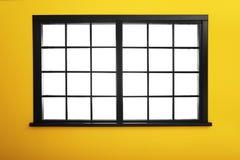 有窗口的空的五颜六色的墙壁 免版税库存照片