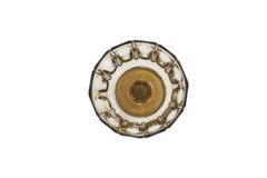 有立场的褐色传统玻璃碗 从上面射击 库存照片