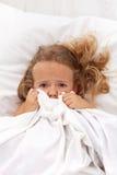 有童年的女孩小的恶梦 免版税库存照片