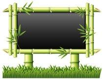 有竹子的黑板作为框架 向量例证