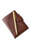 有笔的笔记本 图库摄影