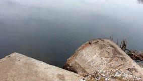 有管子的Autumn湖 影视素材