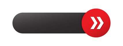 有箭头的空白的网按钮 库存例证