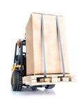 有箱子的叉架起货车 图库摄影