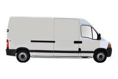 有篷货车白色 免版税图库摄影