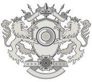 狮子盾冠 免版税库存照片