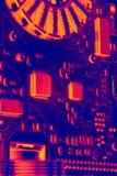 有红外线的作用的微芯片 图库摄影