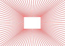 有红线的白色箱子 向量例证