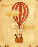 葡萄酒热空气气球 免版税库存照片