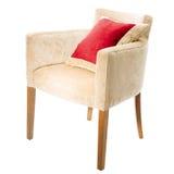 有红色枕头的扶手椅子 图库摄影