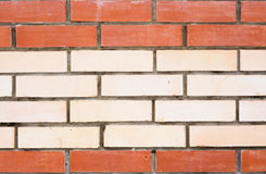 有红色样式、纹理或者背景的白色砖墙 免版税库存照片
