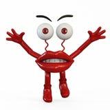 有红色眼睛的小雕象嘴唇 库存照片