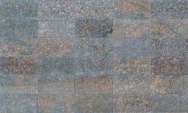 有红色石头disseminations的黑花岗岩瓦片作为背景或纹理的 免版税库存照片