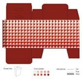 有红色纹理的垂悬的箱子 免版税库存图片
