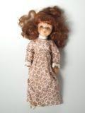 有红色头发的玩偶 图库摄影