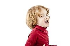 有红色头发的逗人喜爱的孩子 库存照片