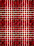 有红颜色作用的小大理石方形的瓦片 免版税库存照片