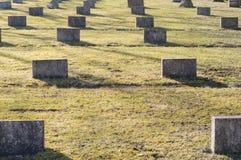 有纪念品的战争公墓对战士 库存照片