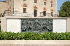 有纪念品的清真寺Qazim在佩奇匈牙利 库存图片