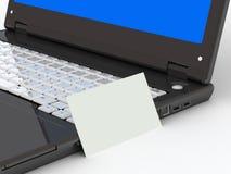 有纸张的黑色笔记本 库存图片