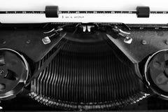 有纸的老打字机我是作家 免版税图库摄影