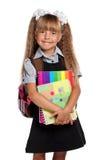 有练习簿的小女孩 库存图片