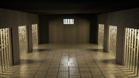 有细胞的监狱 库存例证