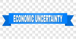 有经济不确定性说明的蓝色磁带 向量例证