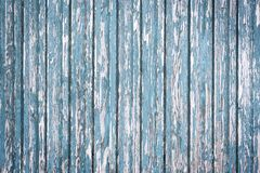 有结构的老被风化的蓝色木板 库存照片