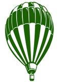 有绿色切片的热空气气球 库存图片