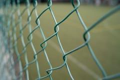 有绿色领域的篱芭 免版税图库摄影