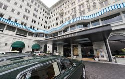 有罗斯劳艾氏的半岛旅馆在香港 免版税图库摄影