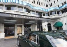 有罗斯劳艾氏的半岛旅馆在香港 库存照片