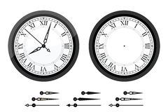 有罗马弯曲的数字的时钟 图库摄影
