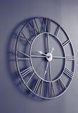 有罗马数字的壁钟 免版税图库摄影