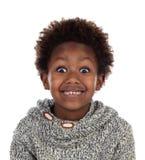 有羊毛球衣的漂亮的孩子 免版税库存图片
