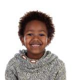 有羊毛球衣的漂亮的孩子 免版税库存照片