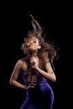有美丽的头发的女孩 免版税图库摄影