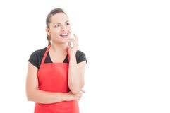 有美丽的女性的雇员一个好主意 免版税库存图片