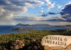 有美丽的海岸的撒丁岛海岛在意大利 免版税库存照片