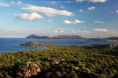 有美丽的海岸的撒丁岛海岛在意大利 库存图片