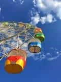 有美丽的蓝天的五颜六色的弗累斯大转轮在月神公园Syd 免版税库存图片