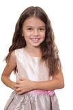 有美丽的头发的小女孩 免版税库存图片