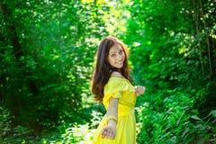 有美好的微笑的妇女 魅力的概念 图库摄影